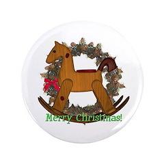 "Rocking Horse 3.5"" Button"