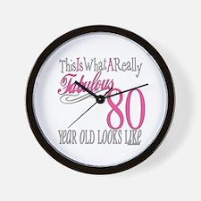 80th Birthday Gift Wall Clock