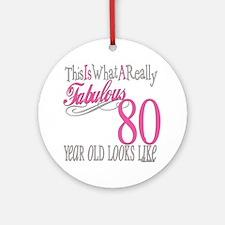 80th Birthday Gift Ornament (Round)