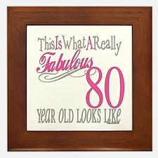 80th Birthday Gift Framed Tile