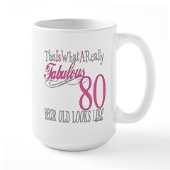 80th Birthday Gift Large Mug