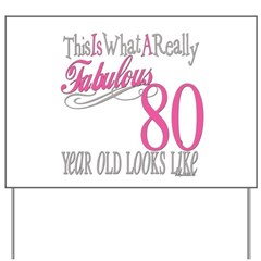 80th Birthday Gift Yard Sign