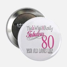 "80th Birthday Gift 2.25"" Button"
