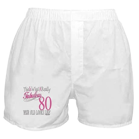 80th Birthday Gift Boxer Shorts