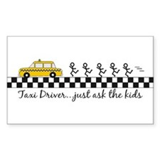 Taxi Driver Rectangle Decal