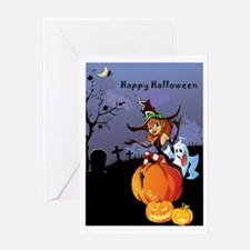 Cute Halloween themes Greeting Card
