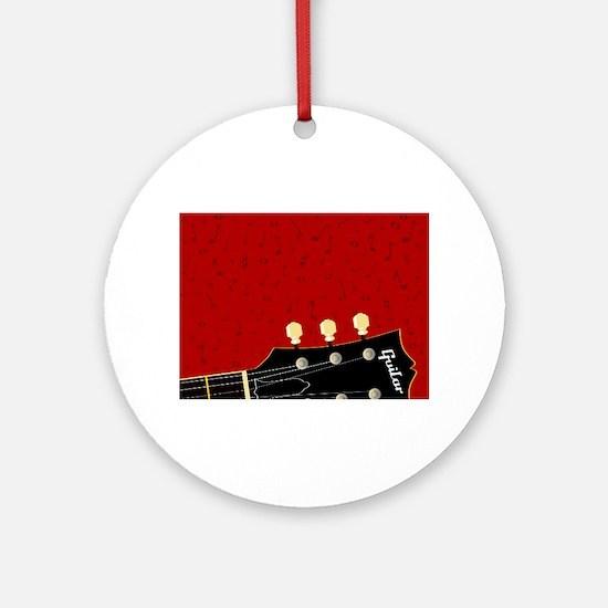 Love Guitar Round Ornament