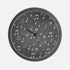 music notes and sign into a modern tren Wall Clock