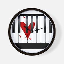 Love Piano Wall Clock
