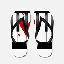 Love Piano Flip Flops