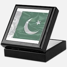 Pakistan Silk Flag Keepsake Box