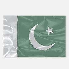 Pakistan Silk Flag Postcards (Package of 8)