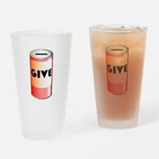 Give Tin Can Drinking Glass