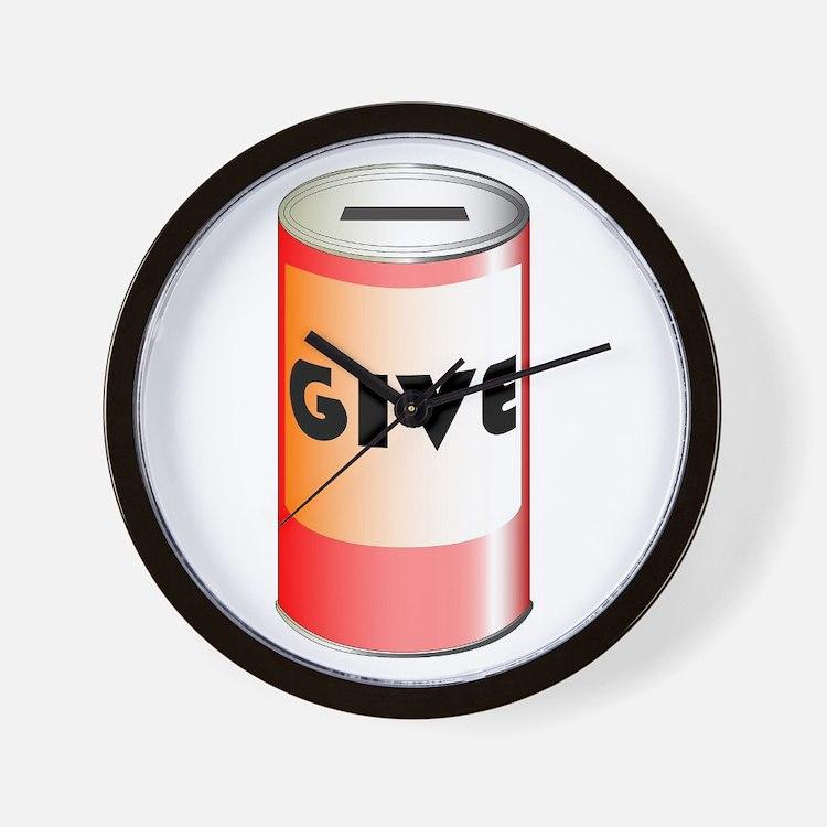 Give Tin Can Wall Clock