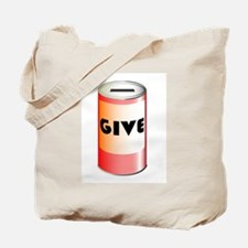 Give Tin Can Tote Bag