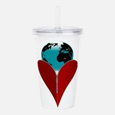 Love Earth Acrylic Double-wall Tumbler