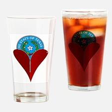 Love Texas Drinking Glass