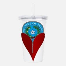 Love Texas Acrylic Double-wall Tumbler