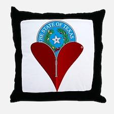 Love Texas Throw Pillow