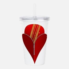 Love Cricket Acrylic Double-wall Tumbler