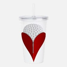 Love Golf Acrylic Double-wall Tumbler