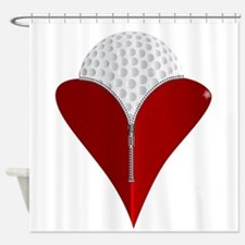 Love Golf Shower Curtain