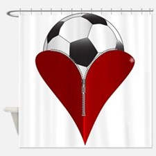 Love Soccer Shower Curtain