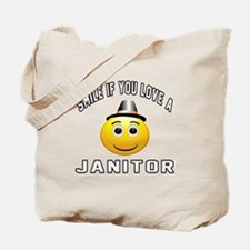 Smile If You Love janitor Tote Bag
