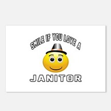 Smile If You Love janitor Postcards (Package of 8)