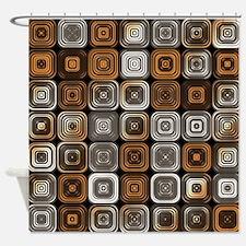 Geometric chocolate pattern Shower Curtain