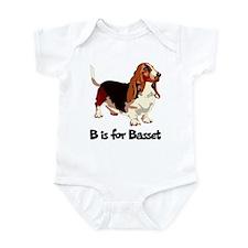 B is for Basset Infant Bodysuit