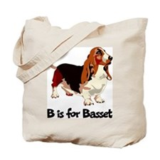 B is for Basset Tote Bag