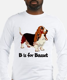 B is for Basset Long Sleeve T-Shirt