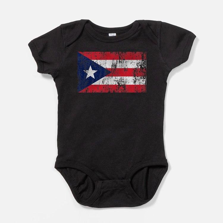 Cute Boricua flag Baby Bodysuit