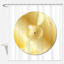 Gold Record Shower Curtain