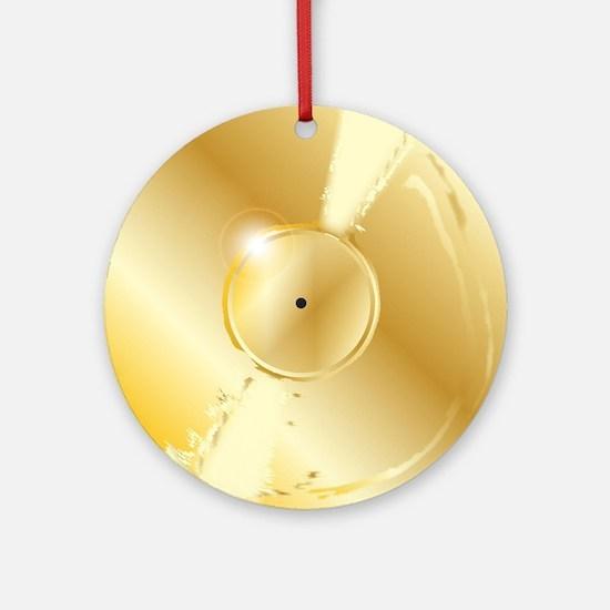 Gold Record Round Ornament
