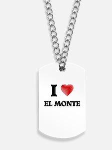 I Heart EL MONTE Dog Tags