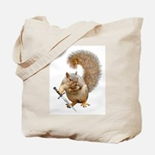 Fighting Squirrel Tote Bag