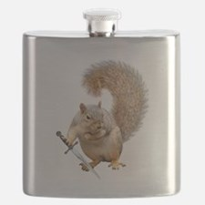 Fighting Squirrel Flask