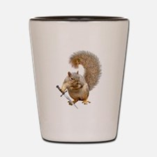Fighting Squirrel Shot Glass