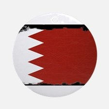 Flag of Bahrain Grunge Round Ornament