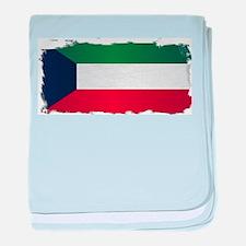 Flag of Kuwait Grunge baby blanket