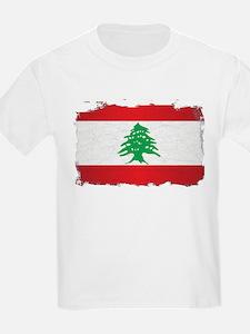 Lebanon Grunge Flag T-Shirt