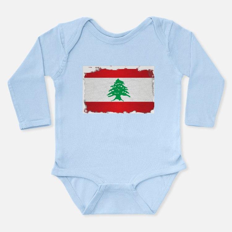 Lebanon Grunge Flag Body Suit