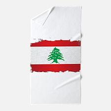 Lebanon Grunge Flag Beach Towel