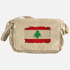 Lebanon Grunge Flag Messenger Bag