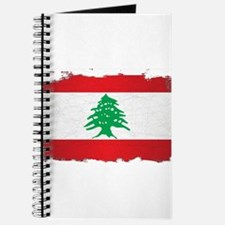 Lebanon Grunge Flag Journal