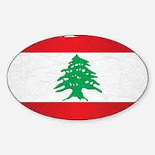 Lebanon Grunge Flag Decal
