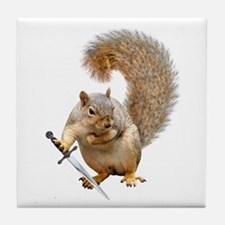 Fighting Squirrel Tile Coaster