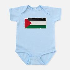 Flag of Palestine Grunge Body Suit